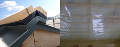気密シート施工による、小屋裏空気の室内侵入防止構造