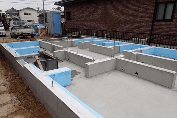 家ができるまでの流れ 断熱仕様基礎コンクリート