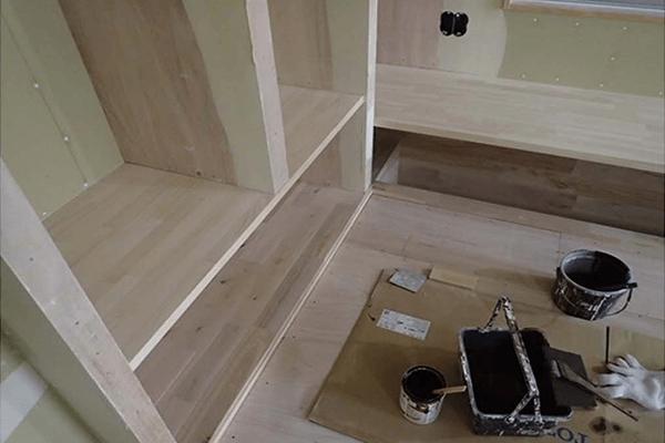 家ができるまでの流れ 造作カウンター工事