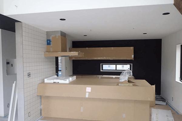 家ができるまでの流れ キッチン設置