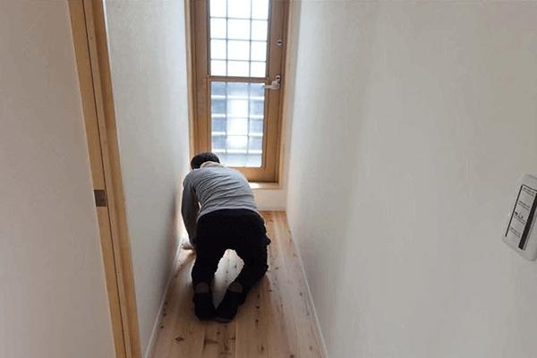 家ができるまでの流れ 床ワックス塗装工事
