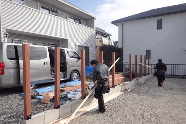 家ができるまでの流れ 外構木製フェンス工事