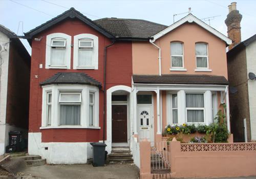 イギリスにおける住宅2世帯を一棟の住宅で建築