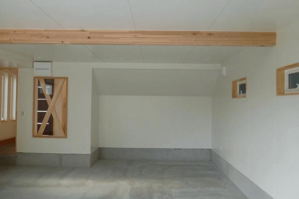 スキップフロアーガレージハウスプラン内装
